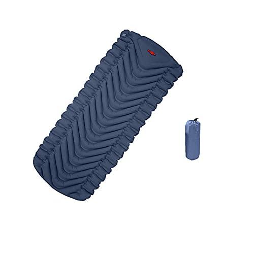 HMSLINCK Cuscino Da Campeggio - Ultra Leggero Gonfiabile - Portatile E Comodo Per Tende, Escursioni E Trekking (195cm X 58cm) - Blu-2