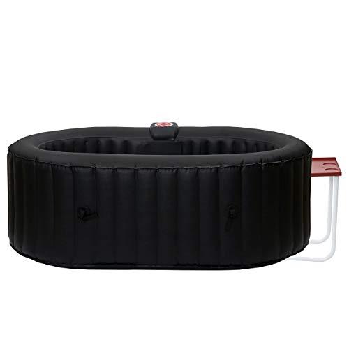 Mendler Whirlpool HWC-E32, 2 Personen In-/Outdoor heizbar aufblasbar inkl. Tisch 190x120cm FI-Schalter