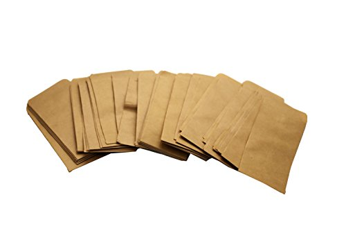 "Walkingpround 100 Pieces Vintage Hybrid Seed Envelopes Blank Kraft Paper Brown Seed Bags Tobacco Seeds Corn Farm Bag (2.36"" x 3.93"")"