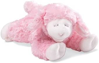 Baby GUND Winky Lamb Stuffed Animal Plush Rattle, Pink, 7