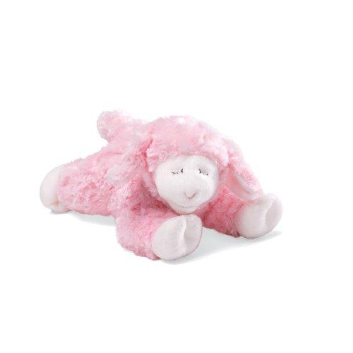 """Baby GUND Winky Lamb Stuffed Animal Plush Rattle, Pink, 7"""""""