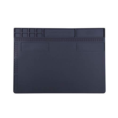 MASUNN Siliconen Hoge Temperatuur Resistant Tafel Pad Werk Platform Lassen Platform Voor Onderhoud Van Computer Mobile, Grijs, 1
