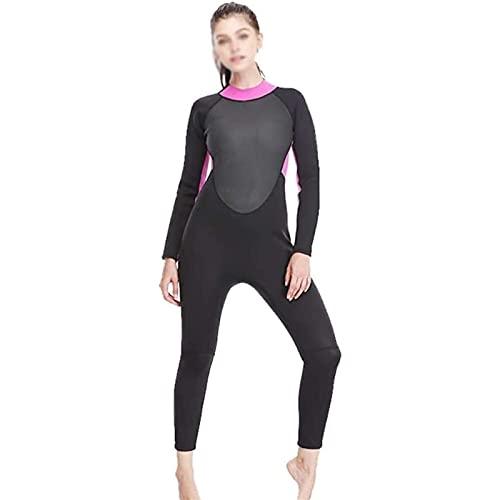 Damen Tauchanzüge, Ganzkörperansicht, Ganzkörperansicht 3 mm Vier Saison Neoprenanzug, Neopren Surfen Tauchen Neoprenanzug zum Surfen, Schwimmen, Wassersport (Größe : S)