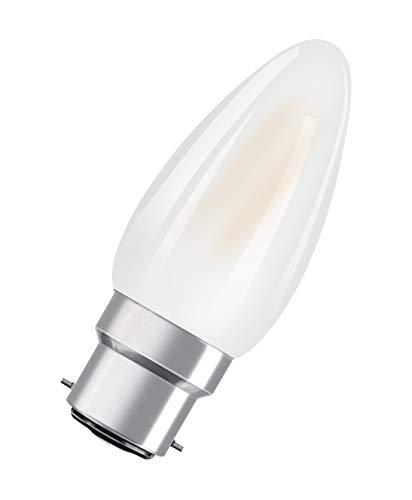 OSRAM Lot de 10 Ampoules LED   Culot B22   Blanc chaud   2700 K   4 W équivalent 40 W   dépolie   LED Retrofit   Forme flamme