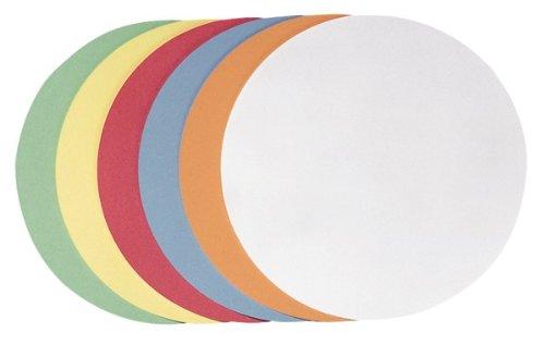 Franken UMZH 20 99 Moderationskarte (Kreis groß, 195 mm) 250 Stück, farblich sortiert