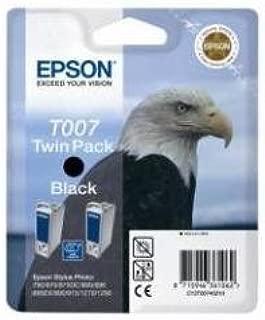 Epson INK CARTRIDGE BLACK 2PK FOR STYLUS PHOTO 870 1270 520, C13T00740220 (FOR STYLUS PHOTO 870 1270 520)