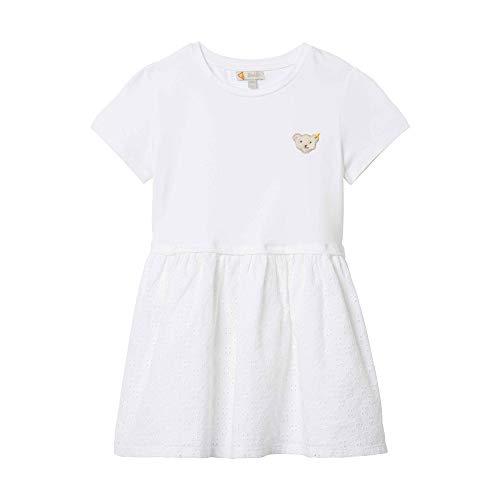 Steiff Mädchen Kleid, Weiß (Bright White 1000), 110