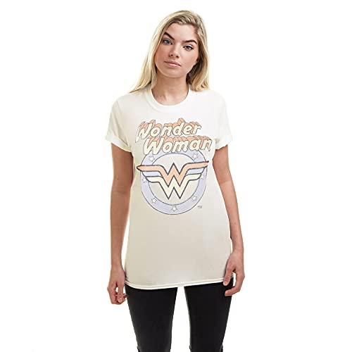 Women's Wonder Woman Logo Pastel T-shirt, DC Comics, S to XL