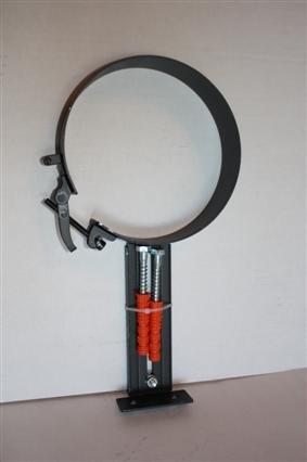 Rohrhalter Halter Ofenrohr Rauchrohr 120 mm Schwarz Halterung