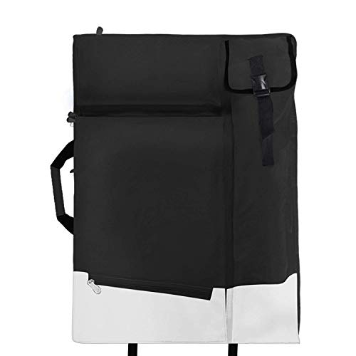 Artists Field Carry Bags Portfolio Carry Shoulder Bag Canvas Multifunctional Backpack Drawboard Bags for Drawing Sketching Painting Art Supplies (Black)