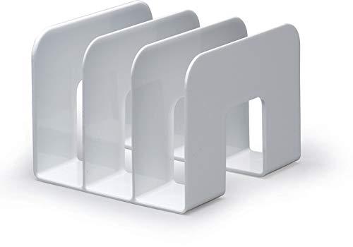 Durable 1701395010 Katalogsammler Trend, Stehsammler für Zeitschriften und Prospekte, 2 Stück, weiß