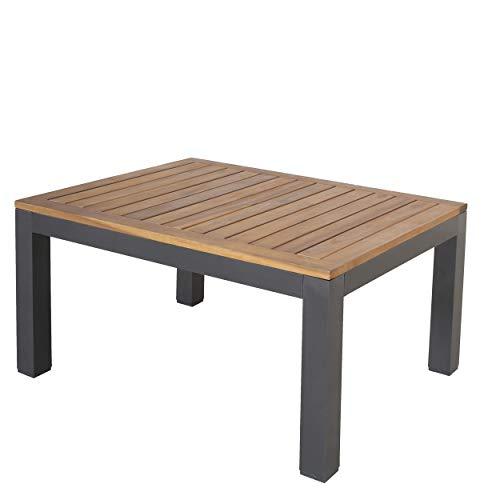 Chicreat Beistelltisch mit Platte aus FSC-zertifiziertem Akazienholz, 90 X 70 X 43 cm