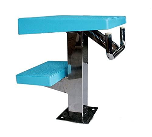 Schwimmbad-Tauchplattform,Pools Startblock mit Rückenschwimmgriff für Inground-Pools,Team-Schwimmen Wettbewerb hohe Sprungplattform,Last 440lbs (Size : Two Step)