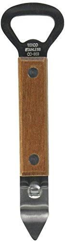 Winco Abridor de lata/abridor de garrafa com cabo de madeira