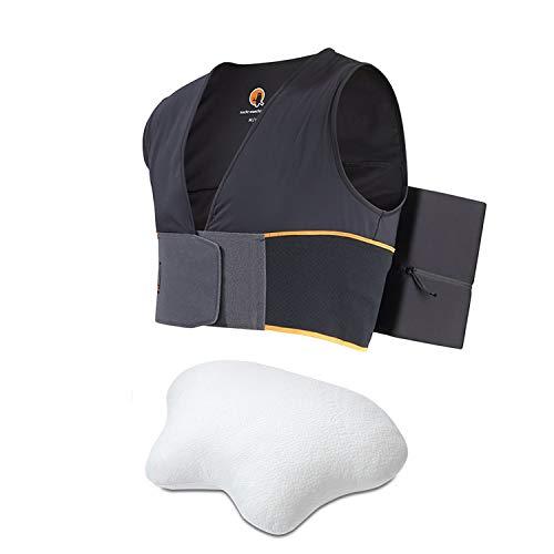 Nachtwaechter Schlafweste & Seitenschläfer-Kissen LINA - Anti-Schnarch-Set für gesunden Schlaf (M/L)