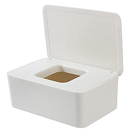 xiangqian Caja de pañuelos a prueba de polvo con tapa para el hogar, la oficina o el escritorio