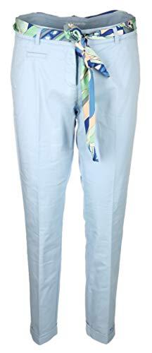 Cambio Damen Hose mit Bindegürtel Stella Größe 4029 Blau (blau)