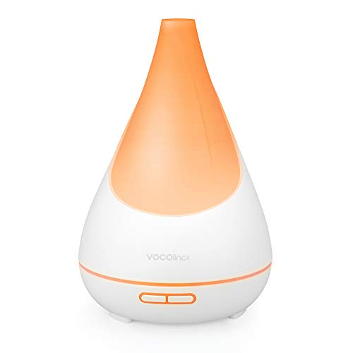 VOCOlinc Smart Cool Mist Aroma Diffuser 300ml Works with Apple HomeKit Siri Alexa Google(Essential Oil not Included) 16 Million Colors Light 3 Effects Ultrasonic Schedule Timer BPA-Free FlowerBud FLB