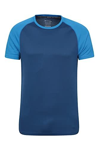 Mountain Warehouse T-Shirt Endurance pour Homme - Haut Respirant idéal pour l'été, Protection UPF 30 - Léger, Confortable et à séchage Rapide - Gym, Voyages, randonnée Bleu Marine L