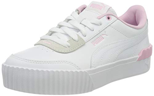 PUMA Damen Carina Lift Sneaker, White Puma White Pink Lady, 42 EU