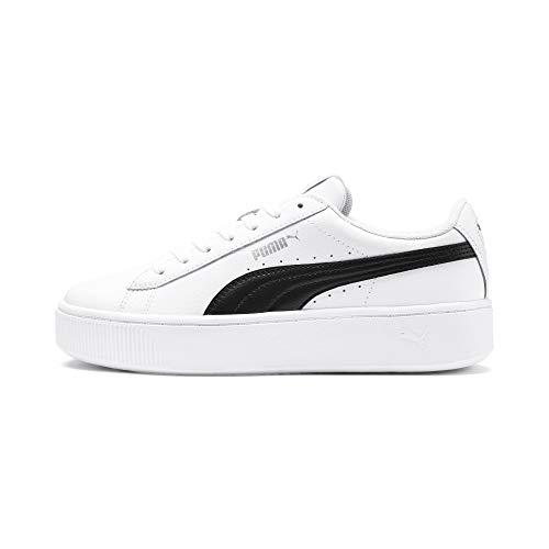 PUMA Vikky Stacked L, Zapatillas Mujer, Blanco White Black, 38.5 EU