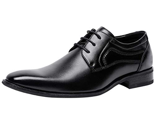 Zapatos Hombre Vestir de Piel Comodos Cordones Derby Cuero Casual Negocio Boda Oxford Plano Boda Brogue Negro 39 EU