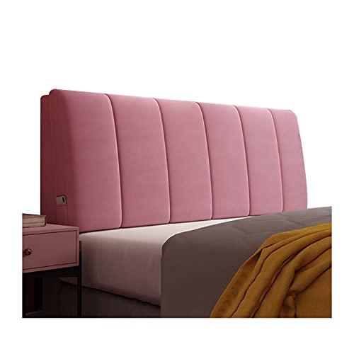 WENZHE Cabecero Cama Cojines Tapizado Cojín Lectura Almohadas, Suave Anti Choques Microfibra Almohadilla Cintura, Usado para Quedarse Casa Hotel Cuarto, 8 Colores (Color : Pink, Size : 185x60x10cm)