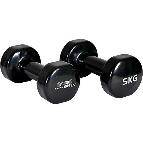 Christopeit Vinyl Hanteln 2 Stück a 5 kg Sport Aerobic Fitness Gewichte Gymnastik Kraftsport
