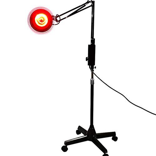 NYPB Infrarot-Wärmelampe 100 Watt, Rotlichttherapie Wärmelampe Stehlampe zur Linderung von Schmerzen, Körpermuskulatur, Nackenschmerzen,Rücken, Schultern,Knie Einstellbare Höhe und Winkel