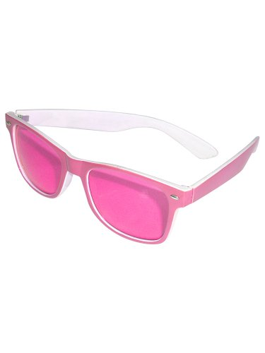 Folat Party Brille Blues Brothers Rosa/Weiß