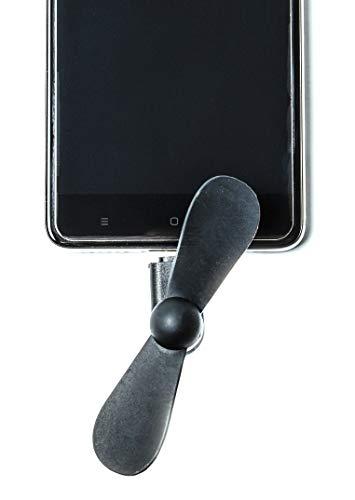 Swallowzy Mini USB Ventilador 2 en 1 portátil Ventiladores de teléfono celular Cooling Cooler para iPhone / iPad Android, paquete de 6 unidades