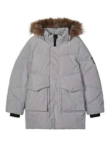 NAME IT NKNMARO Puffer Jacket FO Chaqueta, gris congelado, 10 años para Bebés