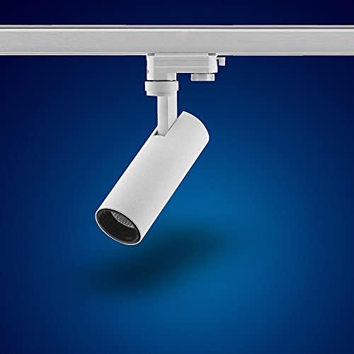 15W S29W blanc chaud LED projecteurs à 3 phases pour le système de rail