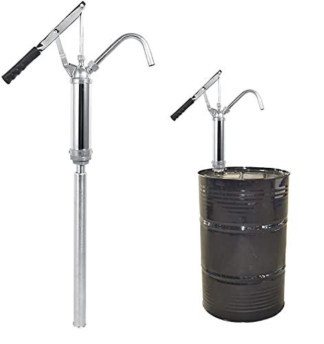 Ölfaßpumpe mit Hebel, Teleskop Fasspumpe Ölfasspumpe mit Abnehmbare Düse Ölpumpe Öl Handpumpe mit Rutschfester Griff, Für Diesel Kerosin Kraftstoff Getriebeöl Motoröl 20L/min