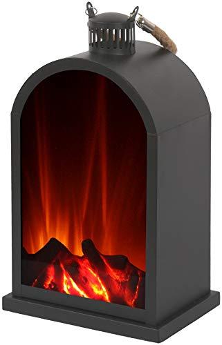 El Fuego® Laterne Tischleuchte mit LED-Flammeneffekt AY 549
