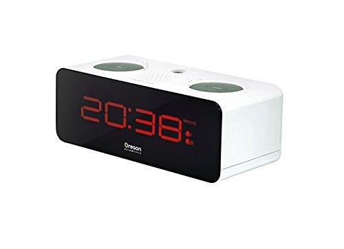 Oregon Scientific RRA320P Orologio sveglia con radio FM e proiezione dell'ora, colore Bianco
