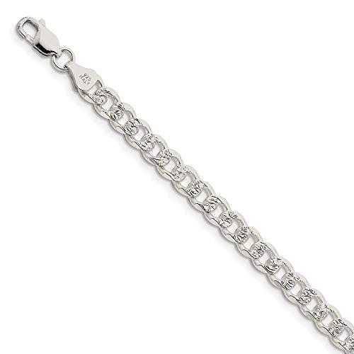 Diamond2Deal - Pulsera de plata de ley 925 de 7 mm, para hombre y mujer