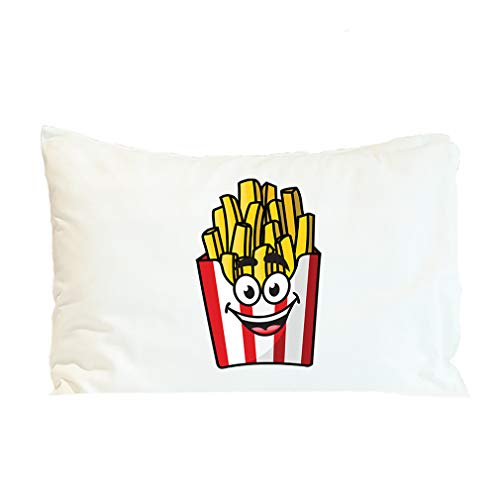 Style In Print Pillow Case French Fries Smiling Food & Beverage Polyester Home Decor Bed Pillow Covers Design Only 30x20 Inches