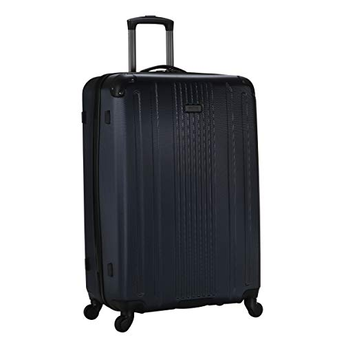 Kenneth Cole Reaction Gramercy Collection Lightweight Hardside 4-Wheel Spinner Luggage, Navy, 28-Inch Checked