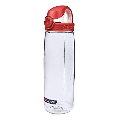 Nalgene Trink und Kunststoffflasche Everyday OTF, 0.65 Liter, Transparent/Red, 5565-1024