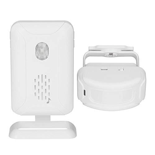KUIDAMOS Alarma de Timbre con Sensor de Movimiento por Infrarrojos con Memoria de Apagado para oficinas para Tiendas Volumen Ajustable