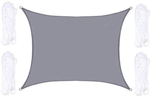 Generic Brands Nützliches Sonnensegel, rechteckig, atmungsaktiv, wasserdicht, für den Außenbereich, Garten, Terrasse, Hof, Party, UV, Grau (4 x 8 m)