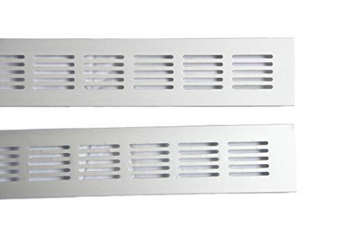 Mister LONG 2X ! 50x500mm Alu Aluminium Lüftungsgitter Stegblech Lüftungssieb Abluftgitter Lochblech Lochgitter eloxiert Diverse Größen und Längen
