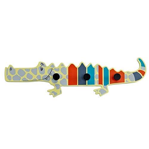 HHTX Perchero Perchero montado en la Pared Decoración de la Puerta Perchero Creativo Gancho Forma de cocodrilo Perchero Perchero Habitación Infantil Perchero Perchero Perchero Dormitorio/Azul +
