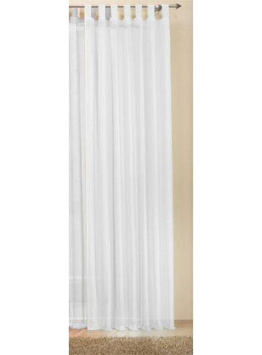 Transparente einfarbige Gardine aus Voile, viele attraktive Farbe, 245x140, Weiß, 61000