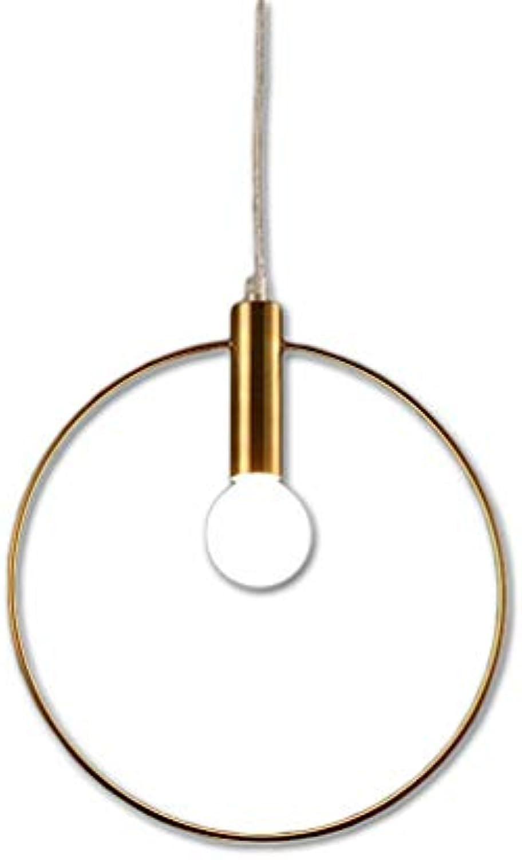 Pendelleuchte Runde überzug Hngeleuchte Esszimmerlampe Dekoration Hngelamp Kronleuchter für Küche Restaurant, Farbe-Kupfer Φ20cm Gesamthhe 140cm Hhenverstellbar E14-Fassung, Max. 40W