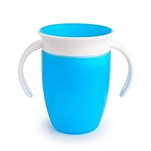 Munchkin Miracle 360° Vaso de Entrenamiento con Asas, Azul (Blue), 207 ml