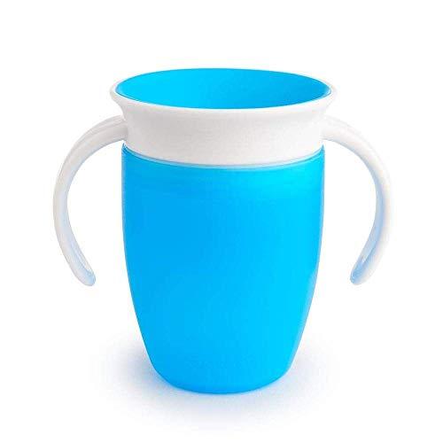 Munchkin Miracle 360ᵒ Trinklernbecher mit Griffen, auslaufsicher, ab 6 Monaten, blau, 207 ml