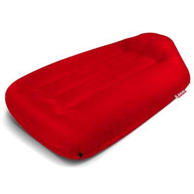 lamzac Fatboy L - Luftsofa Red | Aufblasbares Sofa/Liege/Bett in Rot, Sitzsack mit Luft gefüllt | Outdoor geeignet | 200 x 90 x 50 cm