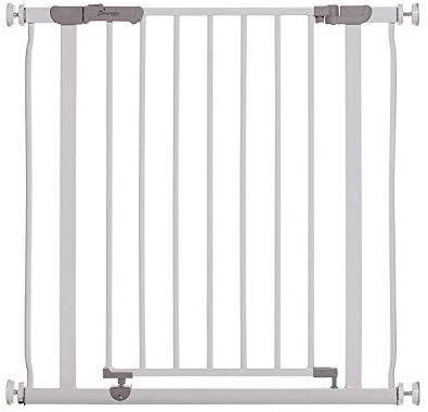 Dreambaby Ava Slimline - Barrera de Seguridad Extra Estrecha 61-68cm - Instalación a Presión. Adecuada para Puertas, Pasillos y Escaleras (Color: Blanco)